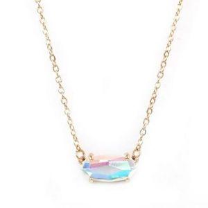 Zara Rainbow Oval Stone Necklace